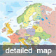 Detailed Map of Europe - GraphicRiver Item for Sale