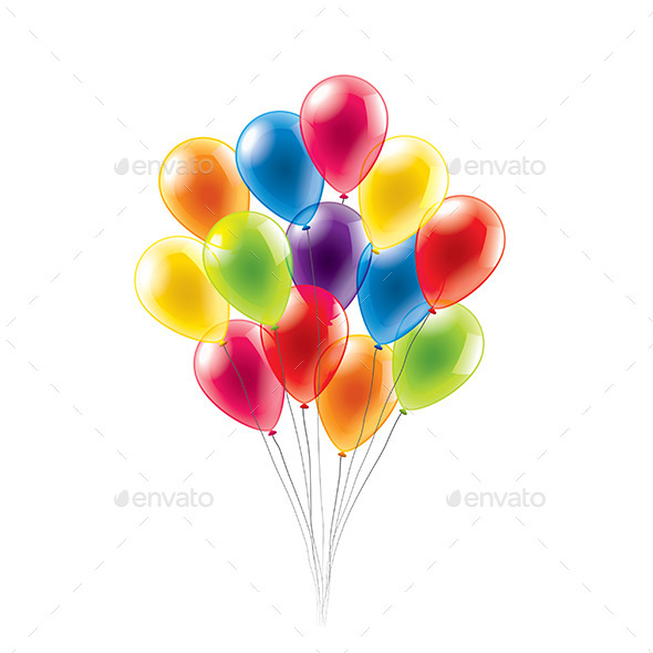 Colored Balloons - Birthdays Seasons/Holidays