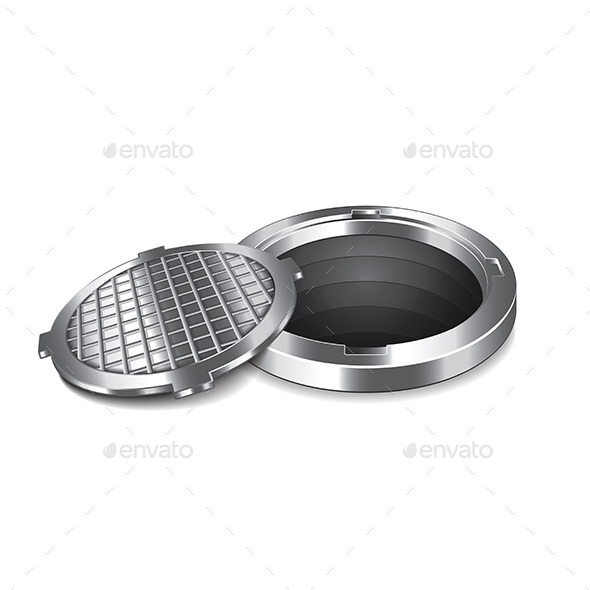 Opened Manhole - Man-made Objects Objects