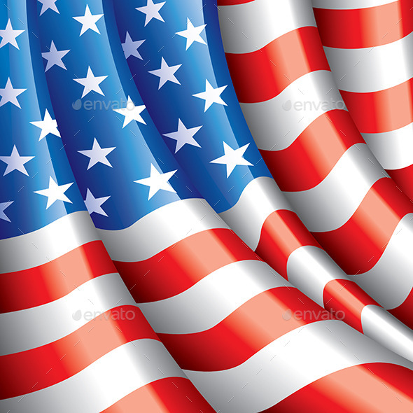 American Flag Background - Miscellaneous Seasons/Holidays