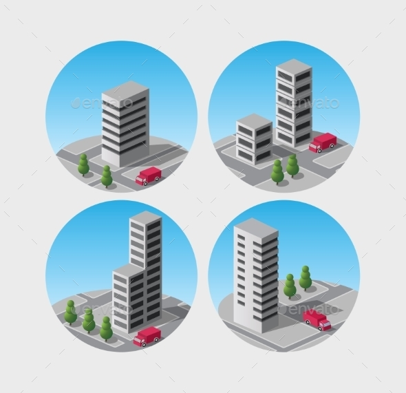 Building Icons - Buildings Objects