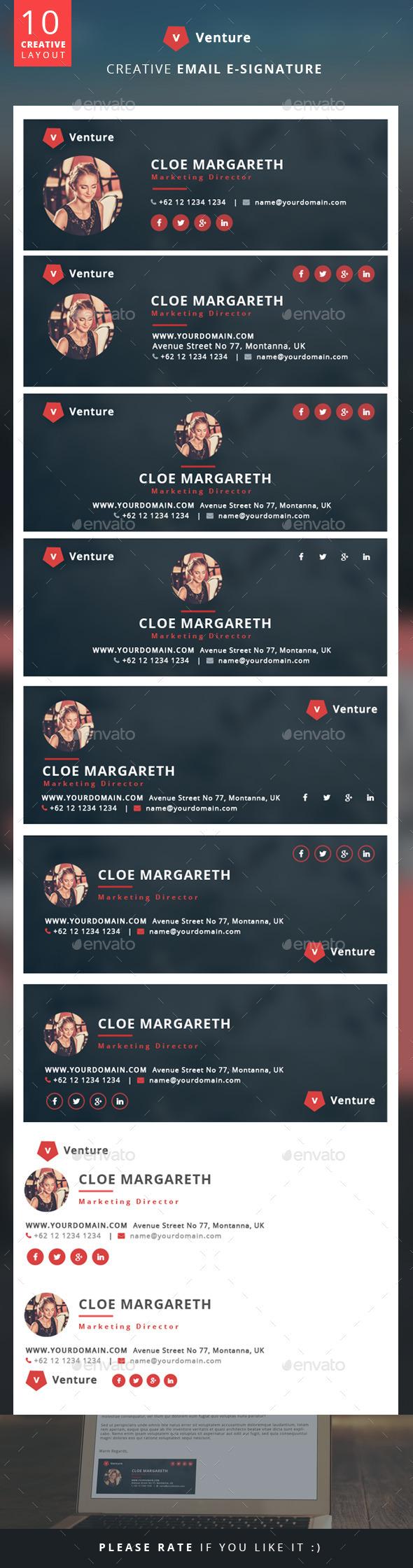 Creative E-Signature - Venture - Miscellaneous Web Elements