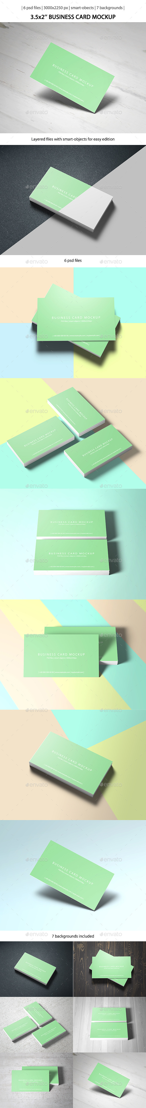 3.5x2 Business Card Mockup - Business Cards Print