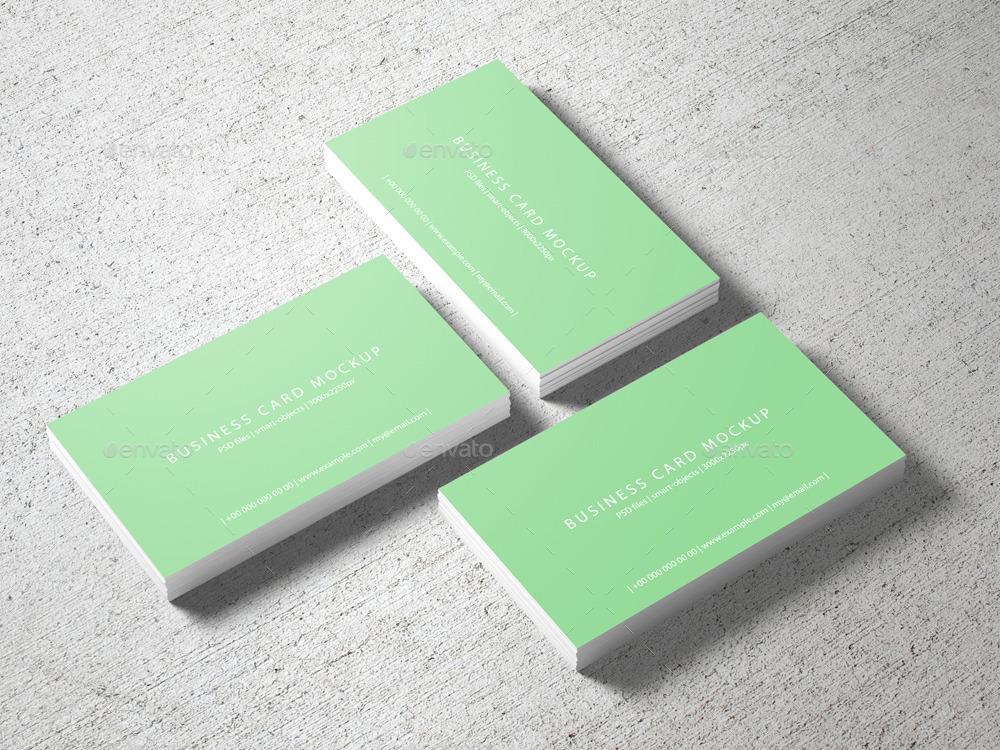 3.5x2 Business Card Mockup by professorinc | GraphicRiver