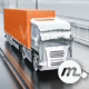 Cargo Truck on the Highway Front View - VideoHive Item for Sale