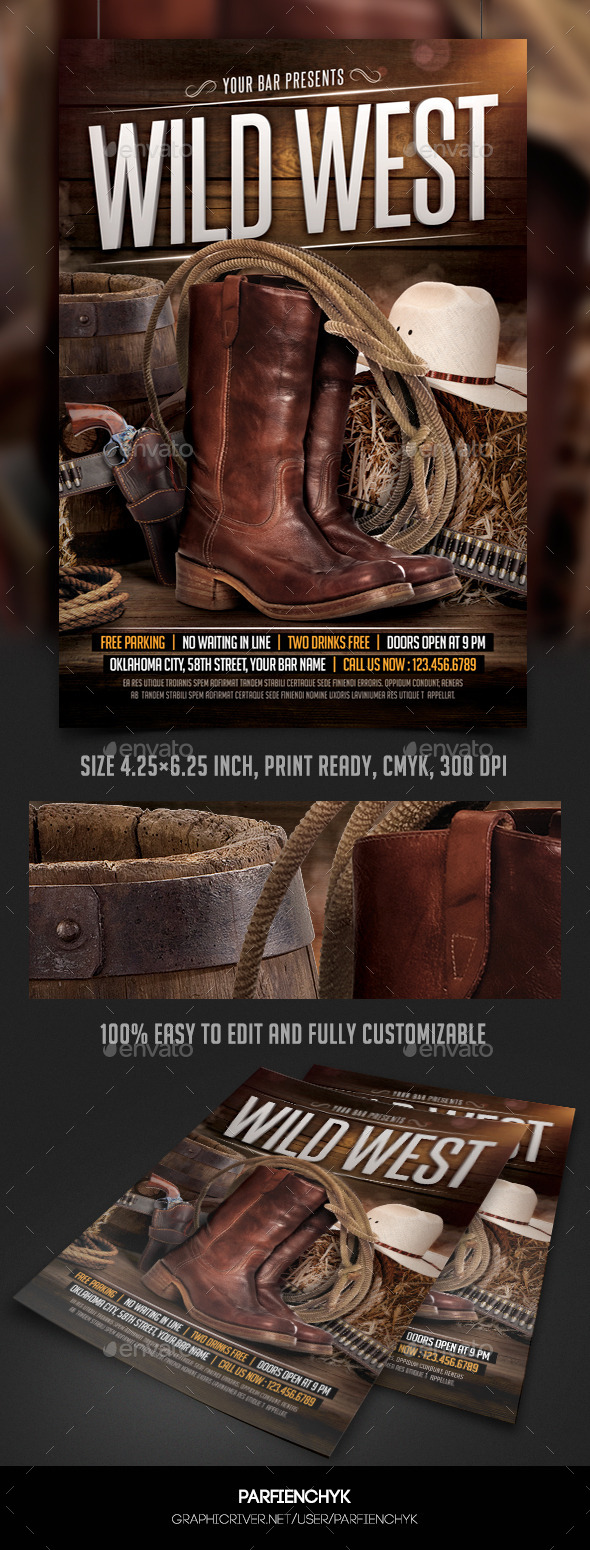 Wild West Flyer Template - Events Flyers