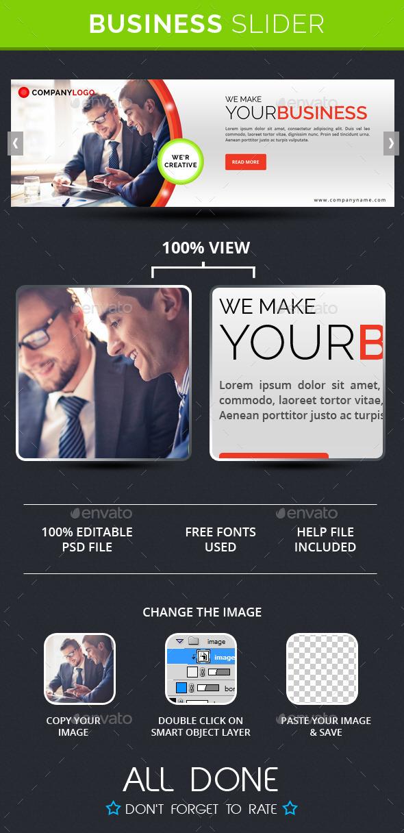 Business Slide V4 - Sliders & Features Web Elements