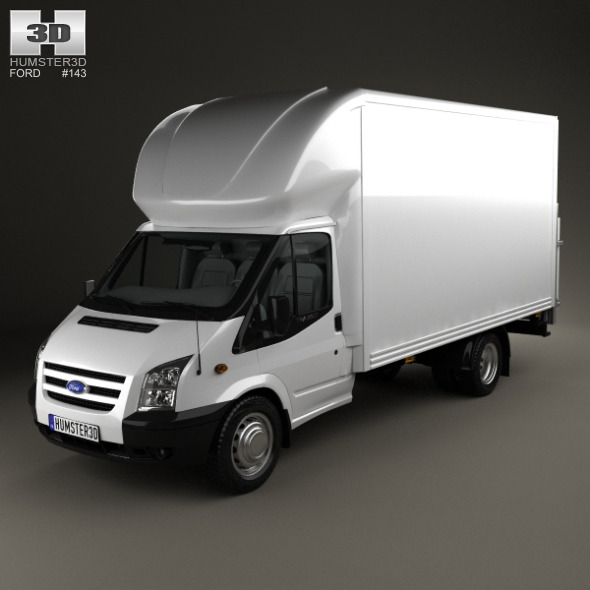 Ford Transit Luton Tailift Van 2012 - 3DOcean Item for Sale