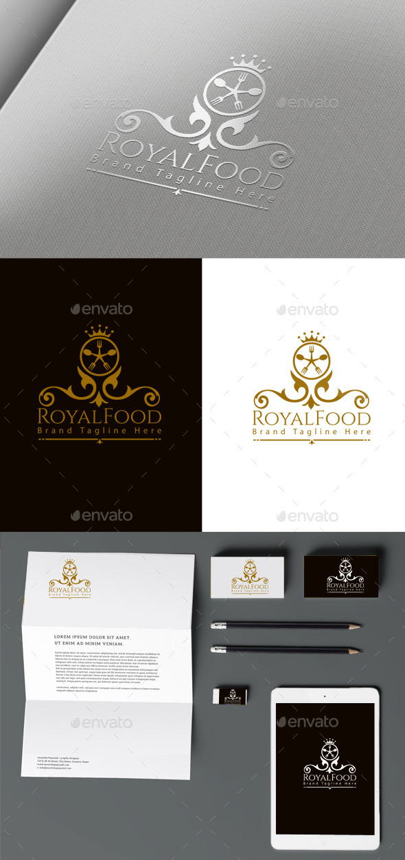 Royal Food - Crests Logo Templates