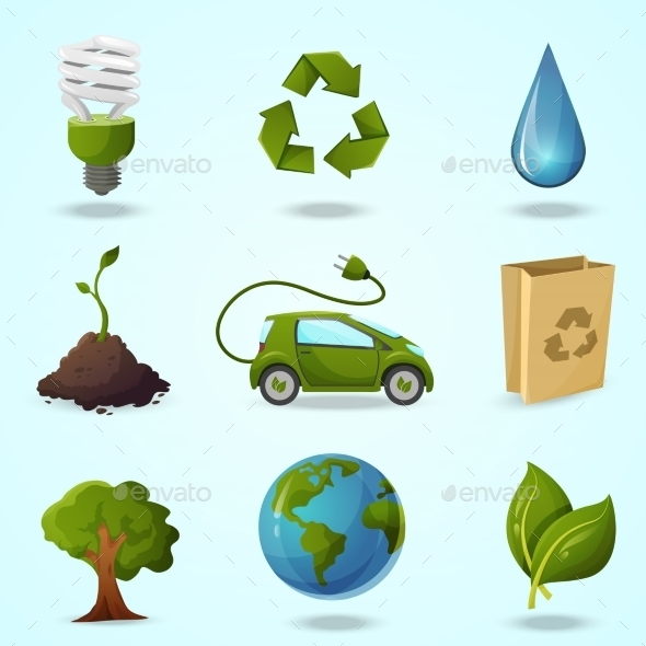 Eco Icons - Technology Conceptual