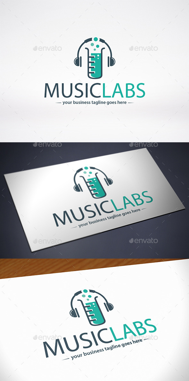 Music Lab Logo Template - Symbols Logo Templates