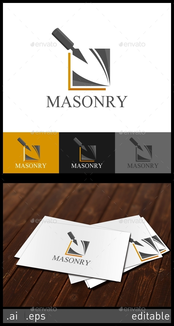 Masonry Logo Template - Objects Logo Templates