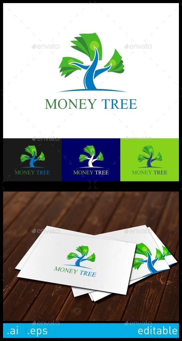 Money Tree Logo Template - Nature Logo Templates