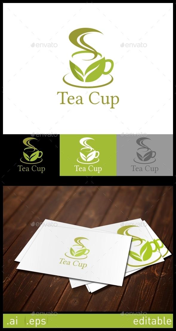 Tea Cup Logo Template - Food Logo Templates