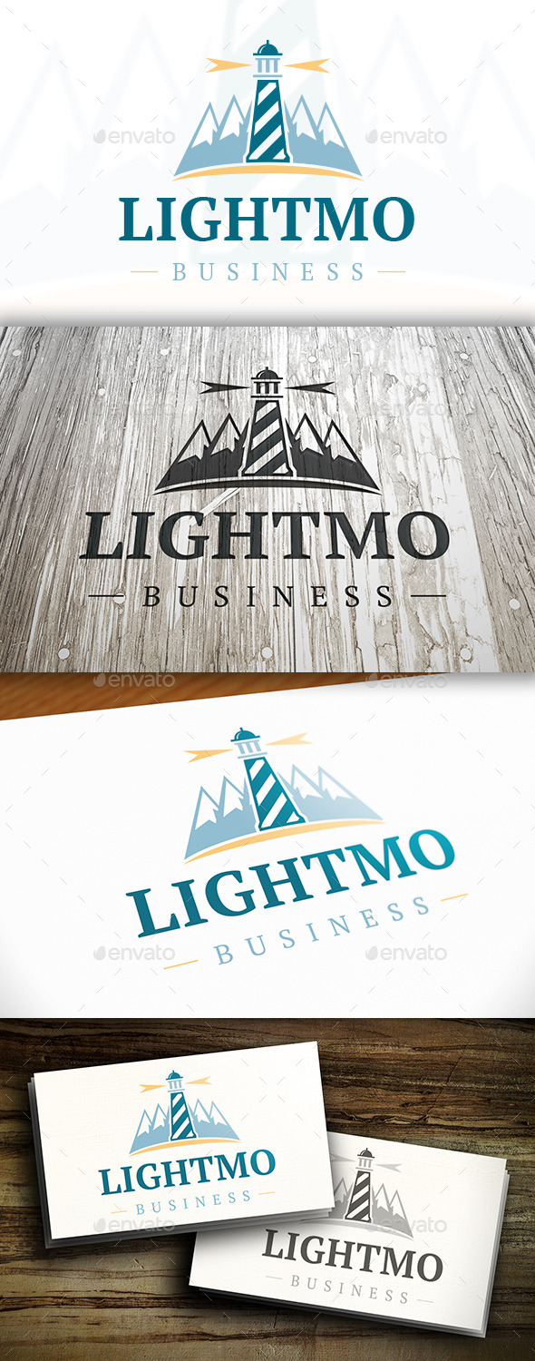 Lighthouse Mountain Logo - Nature Logo Templates