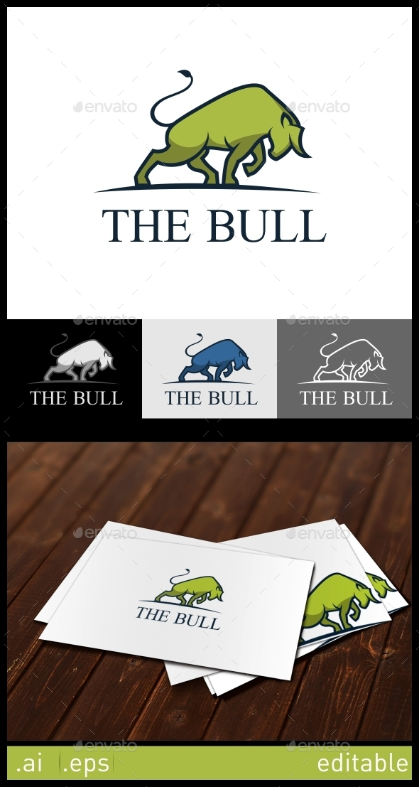 The Bull Logo Template - Animals Logo Templates