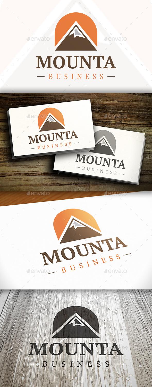 Sun Mountain Logo - Nature Logo Templates