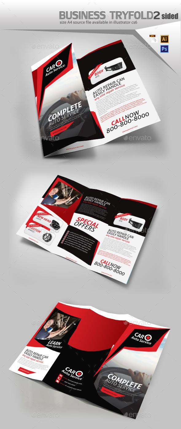 Car Mechanic Shop Brochure  - Brochures Print Templates