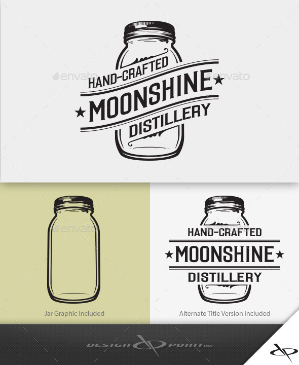 Moonshine Distillery Logo - Crests Logo Templates