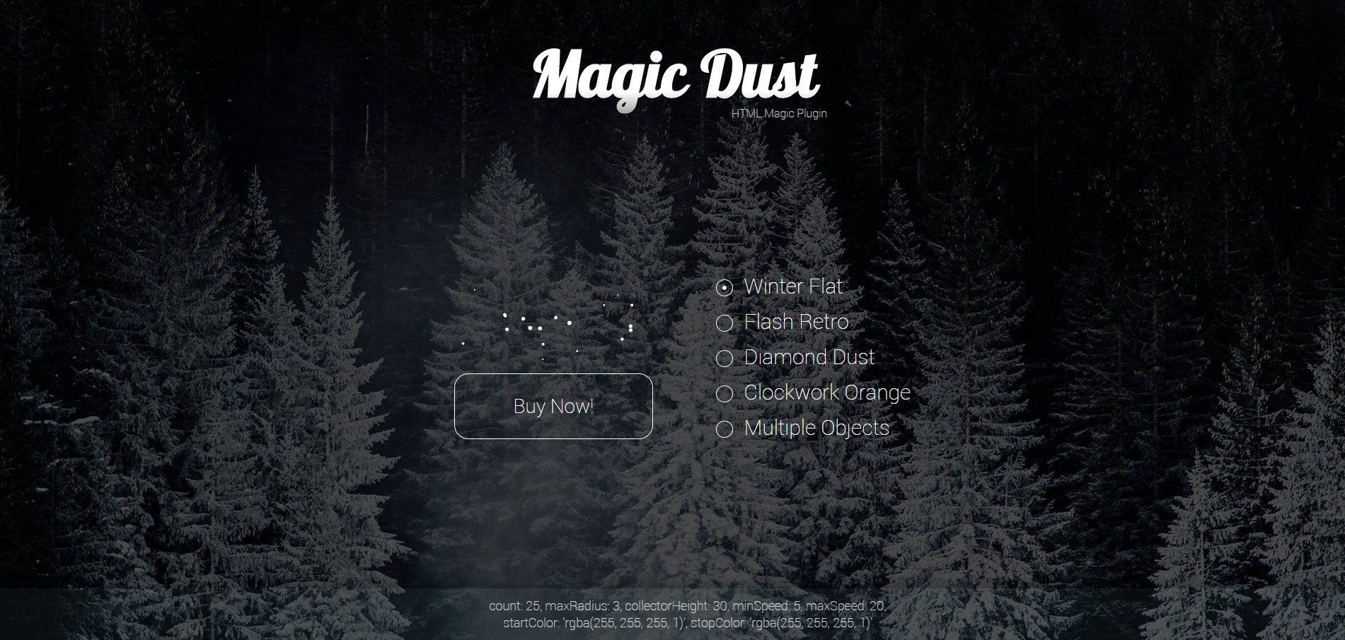 Magic Dust: HTML Particles by artrayd | CodeCanyon