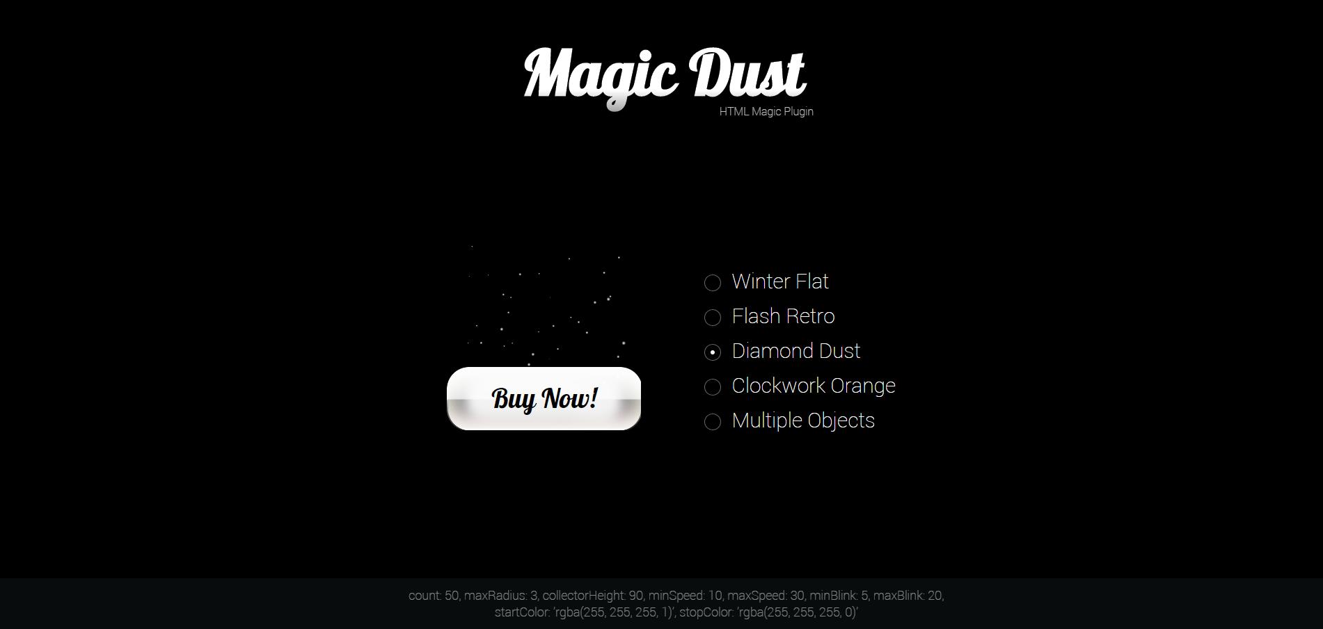 Magic Dust: HTML Particles