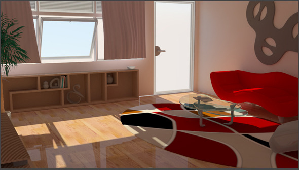 Living Room V-ray setup - 3DOcean Item for Sale