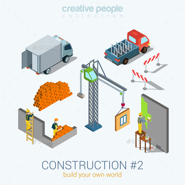 Construction Concept - People Characters