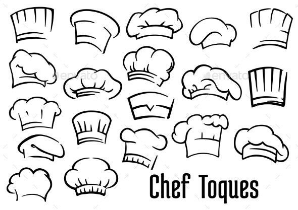 Chef Hats and Toques Set - Man-made Objects Objects