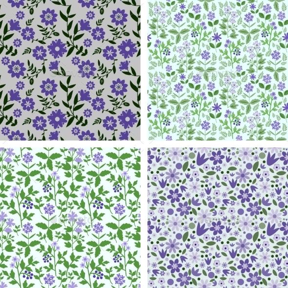 Patterns Set - Flowers & Plants Nature