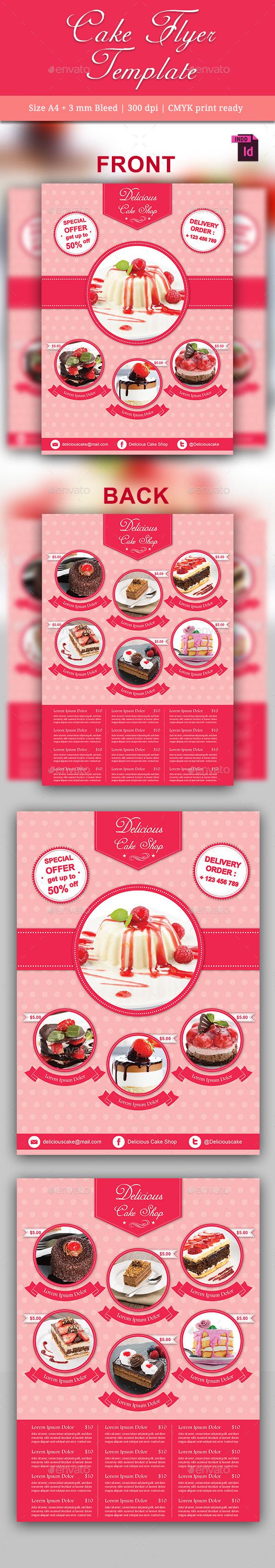 Cake Flyer Template - Restaurant Flyers