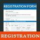 Registration & Membership Form  - GraphicRiver Item for Sale