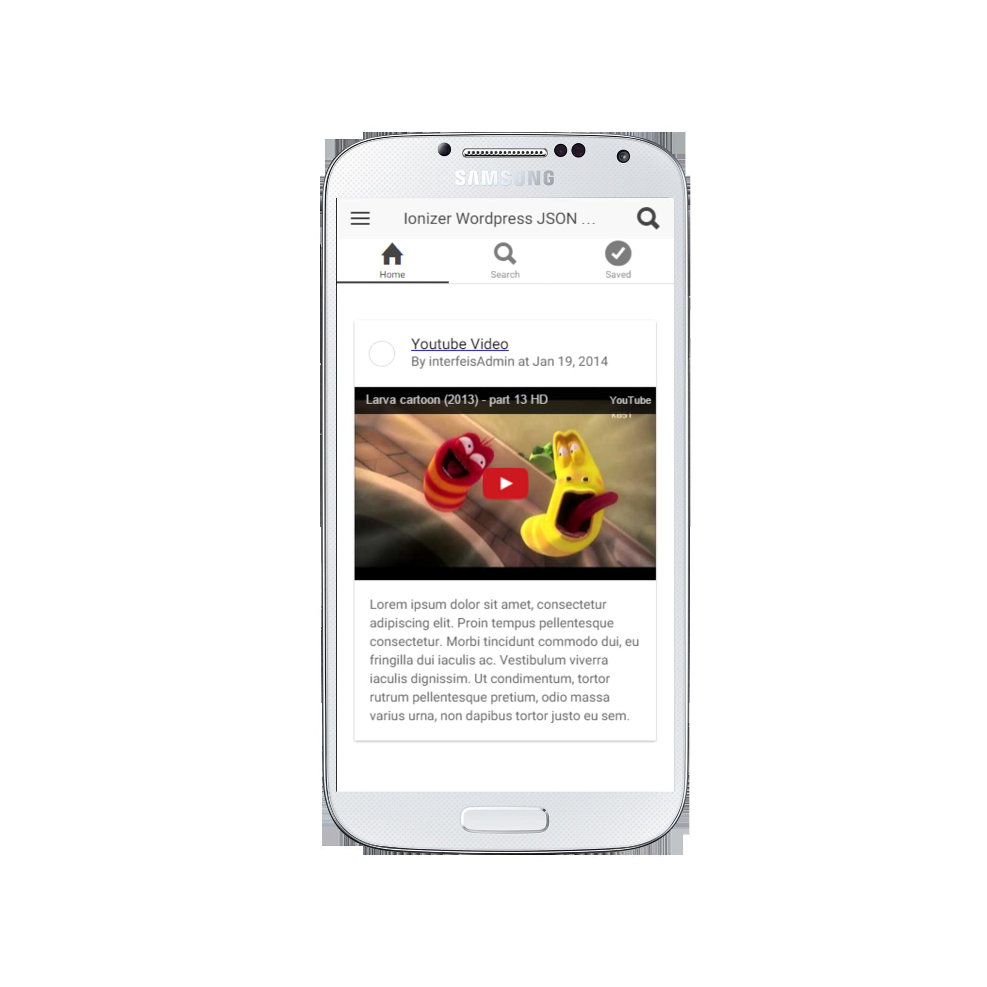 Ionizer - Ionic, AngularJS & Cordova App Template & Example