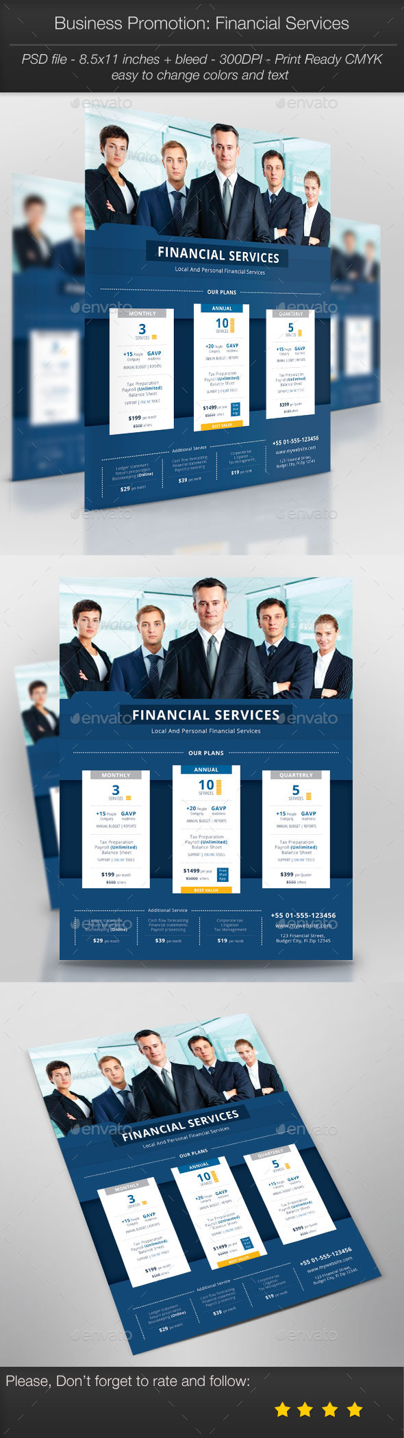 Business Promotion: Financial Services - Corporate Flyers