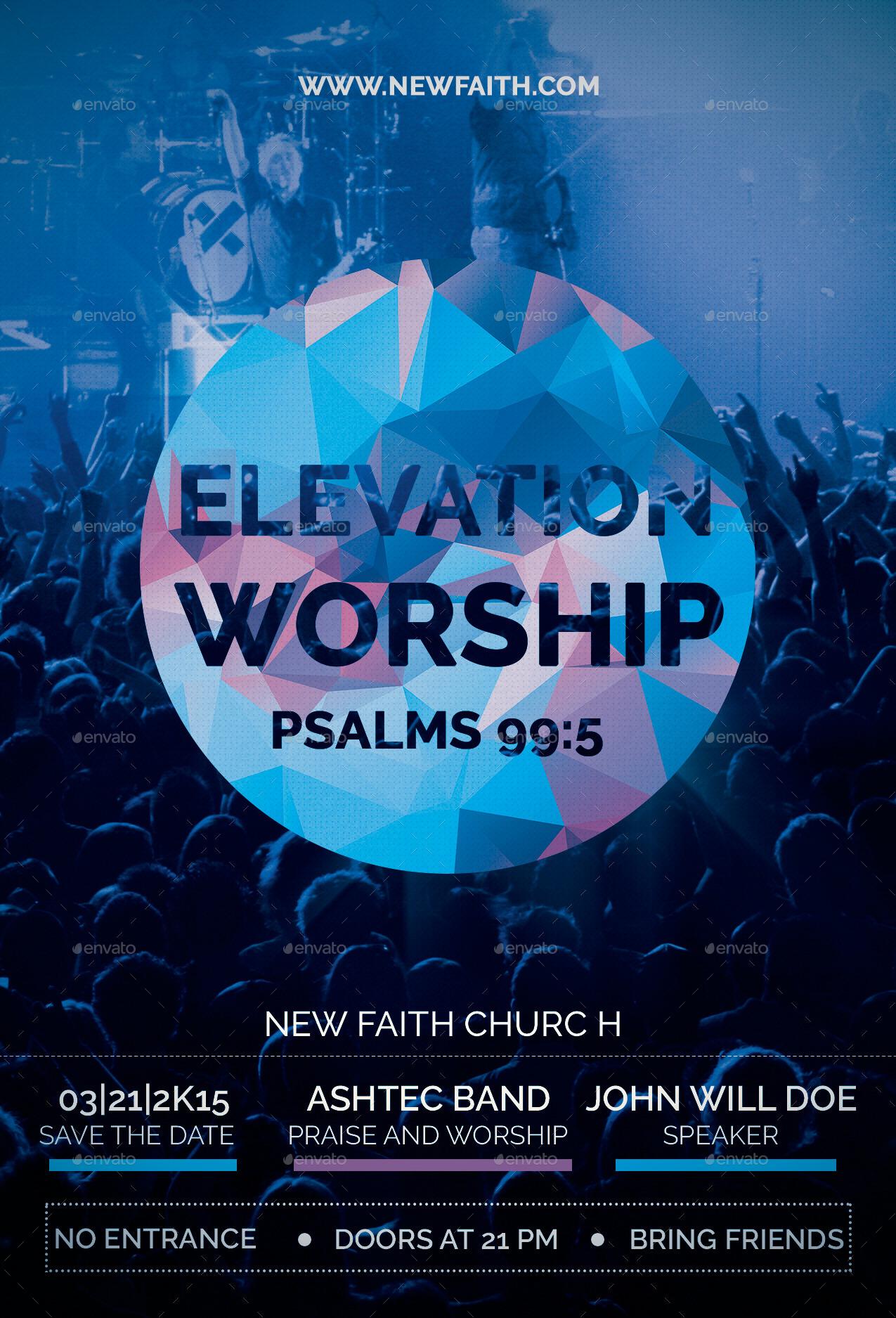 elevation worship church flyer by reindesignstudio