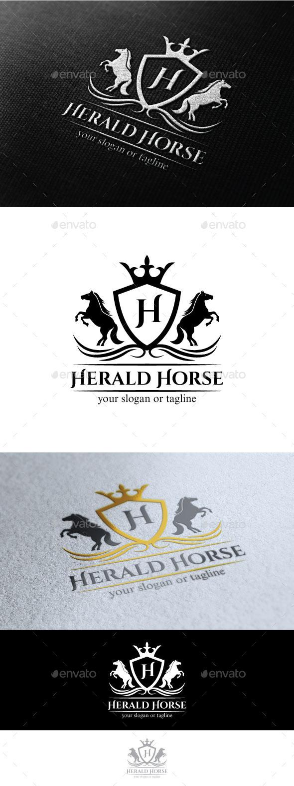 Horse Herald - Crests Logo Templates