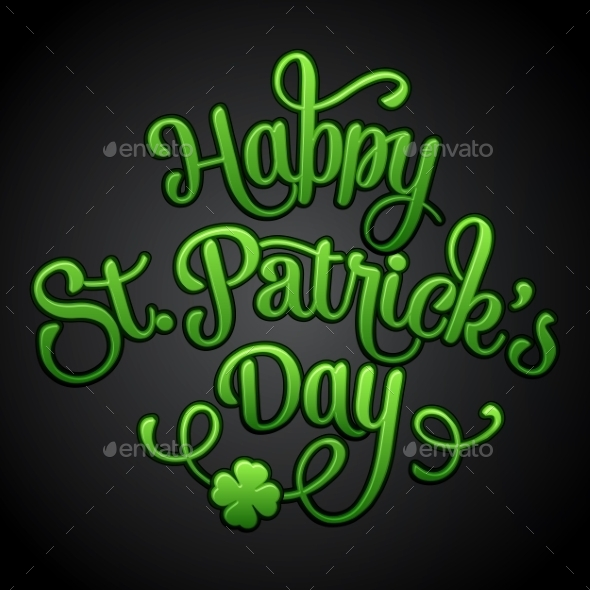 Typographic Saint Patrick's Day Greeting Card - Miscellaneous Seasons/Holidays