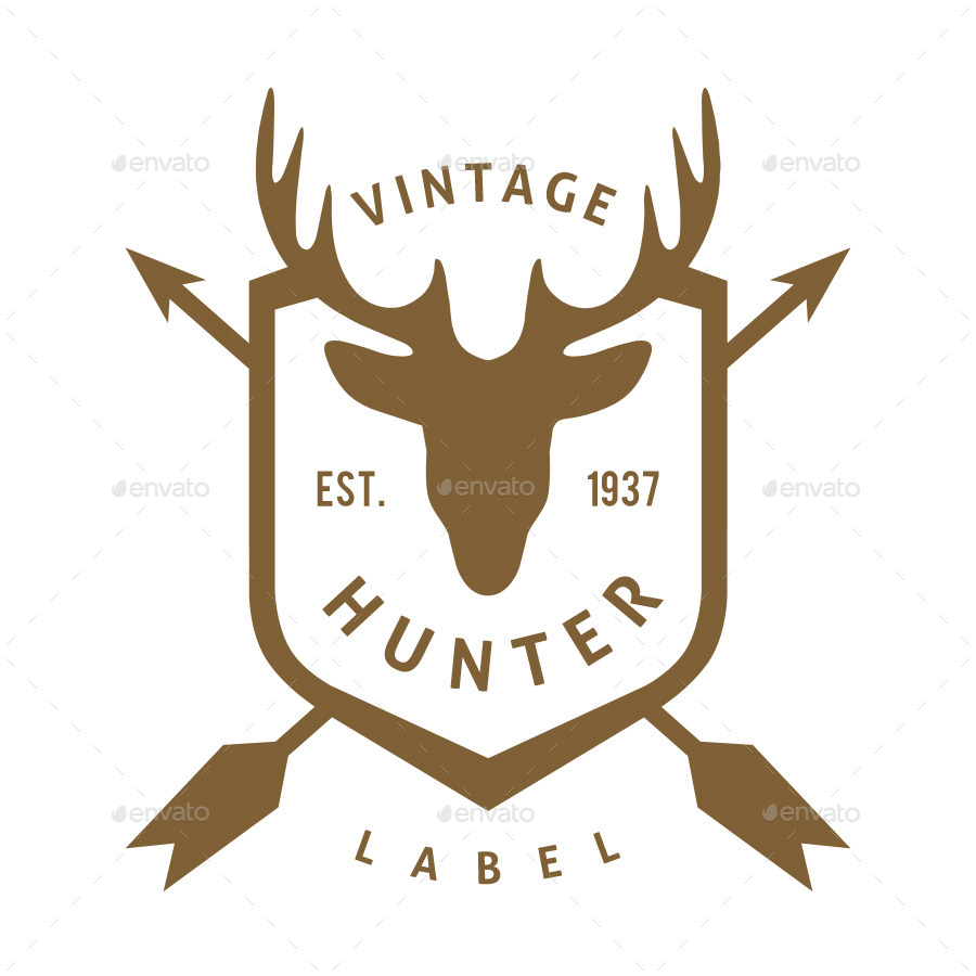 10 Hunting Vintage Badges and Logos Vol.1 by SuperPencil ...