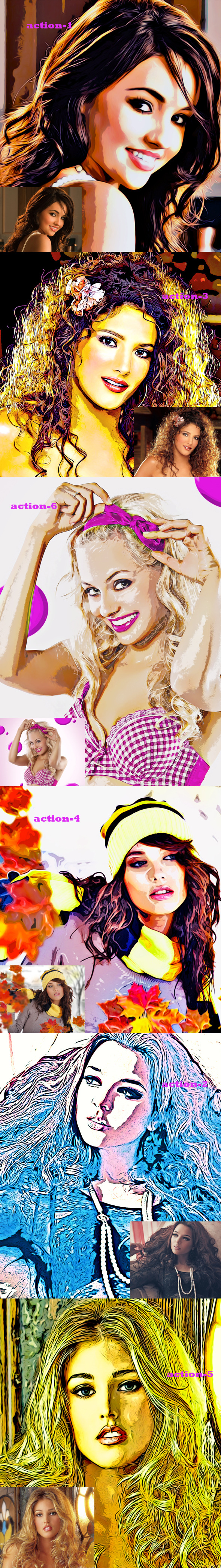 Poster Art Oil Action - Photo Effects Actions