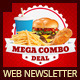 Restaurant Fast Food Web Newsletter - GraphicRiver Item for Sale