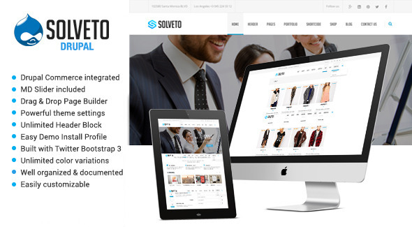 Solveto - Responsive Multipurpose Drupal Theme - Business Corporate