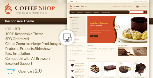 Coffee Shop – Opencart Responsive Template