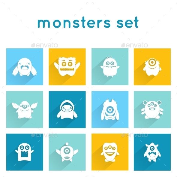 Monster Icons Set - Monsters Characters