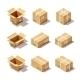 Download Vector Cardboard Box Set