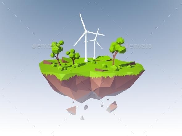 Ecology Island Concept - Nature Conceptual