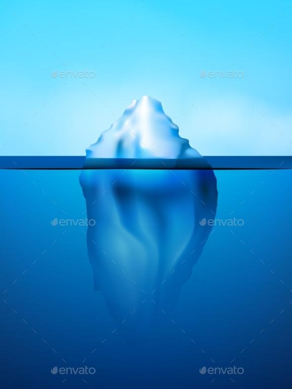 Iceberg Background Illustration - Backgrounds Decorative