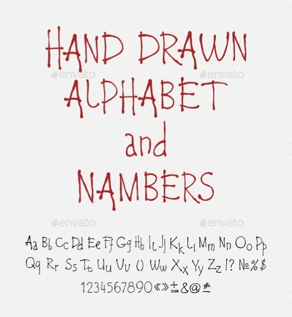 Set of Calligraphic Acrylic or Ink Alphabet - Web Technology