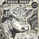 Vintage Beef Advertising Page - GraphicRiver Item for Sale