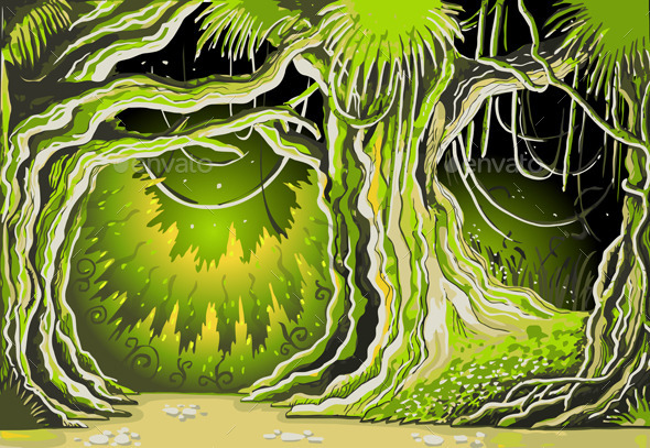 Magic Tale Forest Background - Nature Conceptual