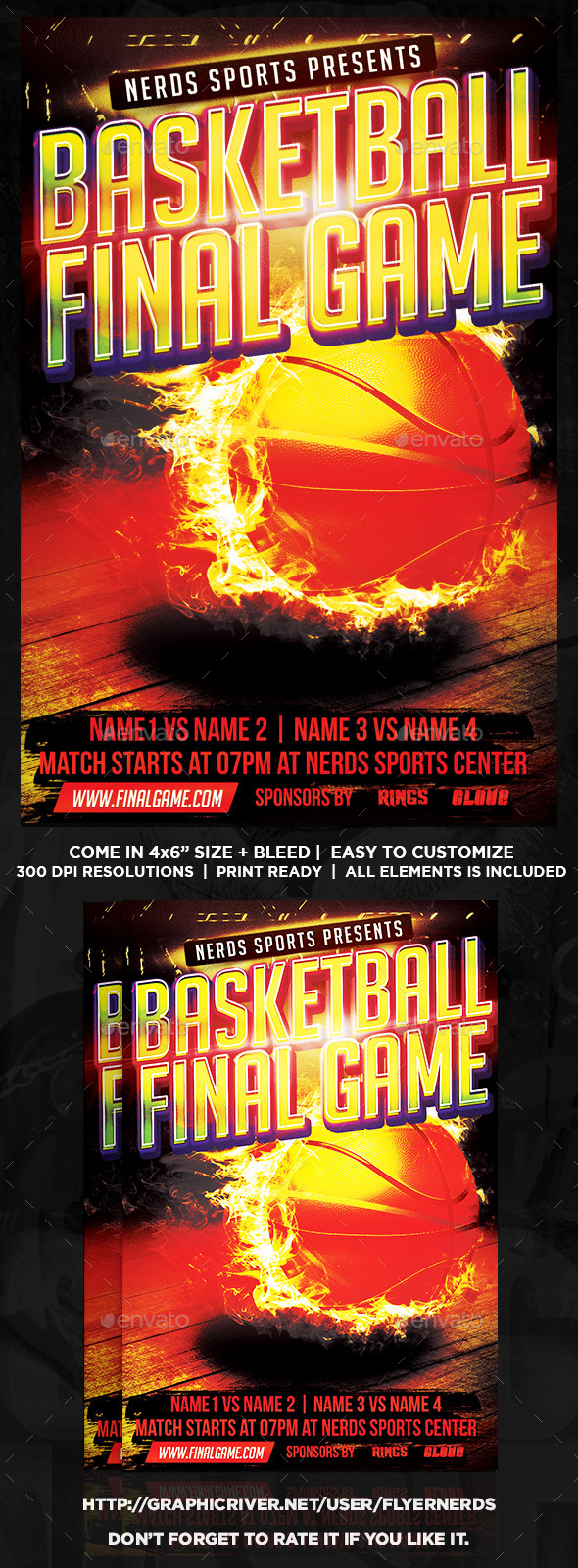 Basketball Finals Game Sports Flyer - Sports Events