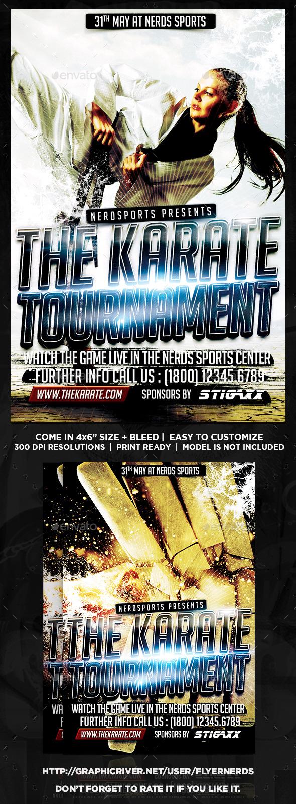 Karate Tournament Sports Flyer  - Sports Events